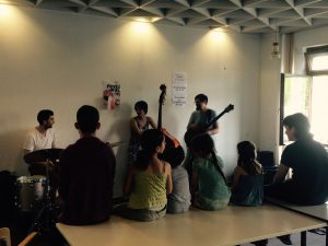 playing for refugees in Berlin